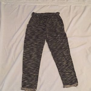 Knit high waisted joggers